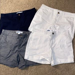 Old Navy 4 Pairs of Twill Shorts Bundle
